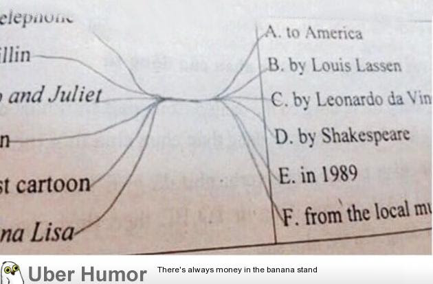 Draw A Line To The Correct Answer Funny Pictures Quotes Pics