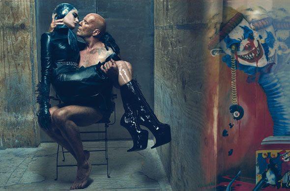 Bruce Willis e Emma na W Magazine.
