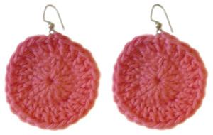 crochet beginner circle earring