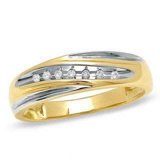 Men's 1/15 CT. T.W. Diamond Diagonal Slant Wedding Band in