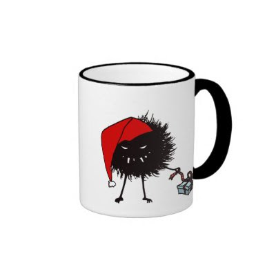 Evil Christmas Bug With Present Mug