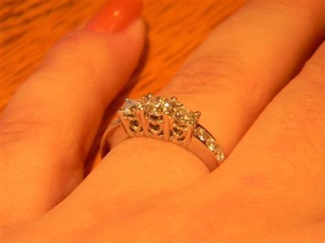 3 stone engagement rings what does your wedding band look