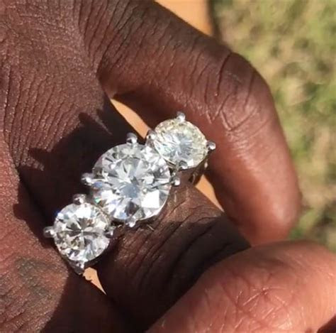 Rapper Gucci Mane Shows Off His Three Stone Diamond Man