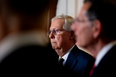 McConnell suggests he would block a Biden nominee for the Supreme Court in 2024.