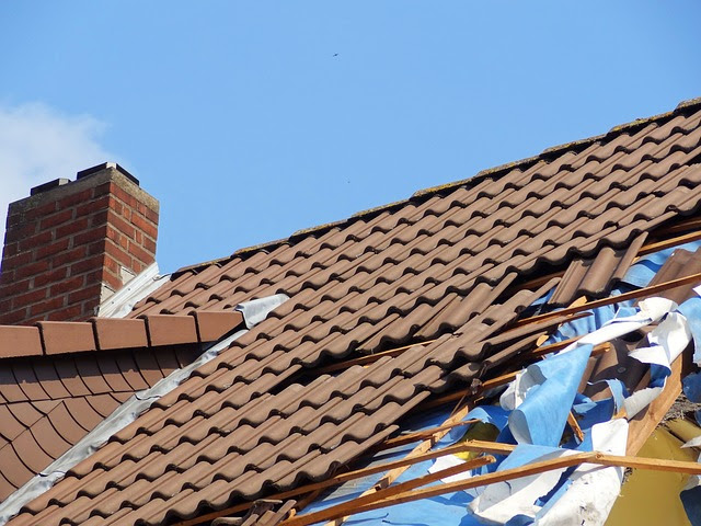 Damaged roof in need of a repair