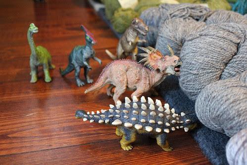 Help! Yarn eating dinosaurs!