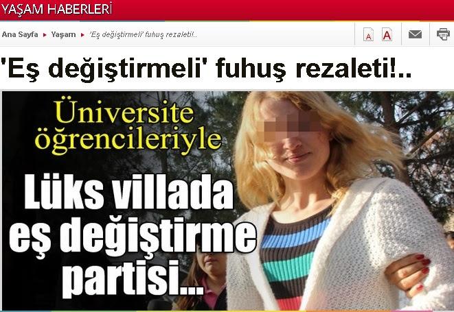 Gazetelere düşmüş skandal Villada üniversiteli kızlara düzenlenen swinger tuzak