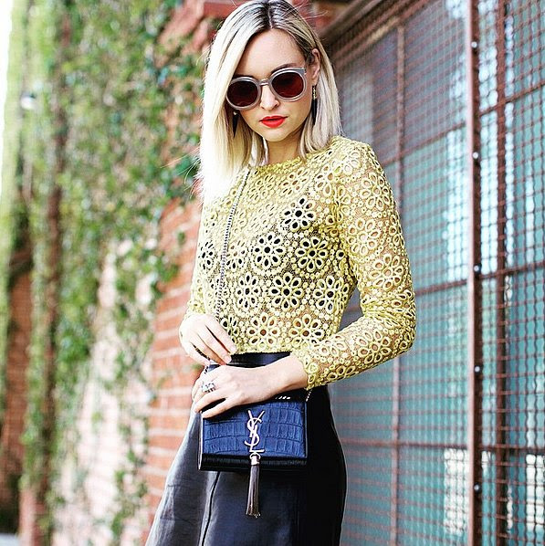Girlie With an Eyelet Top