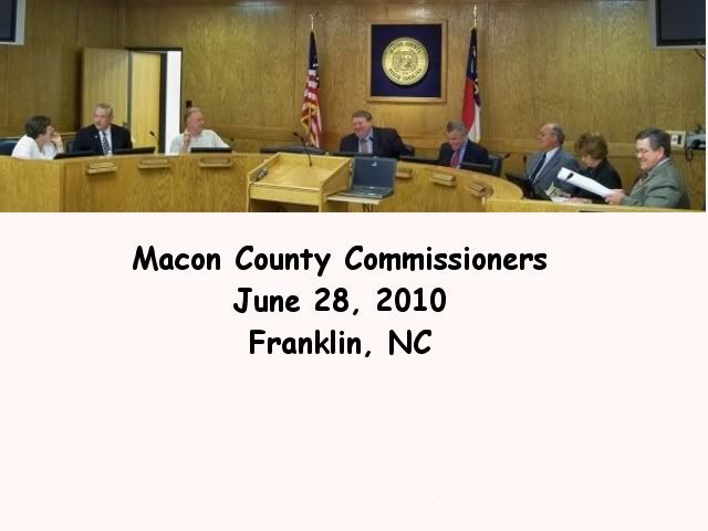 The Macon County Commissioners meet in the Macon County Courthouse