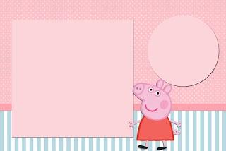 Convite Caixa Fundo Peppa Pig: