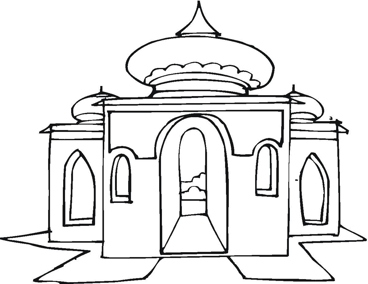 Masjid Drawing At Getdrawings Com Free For Personal Use Masjid