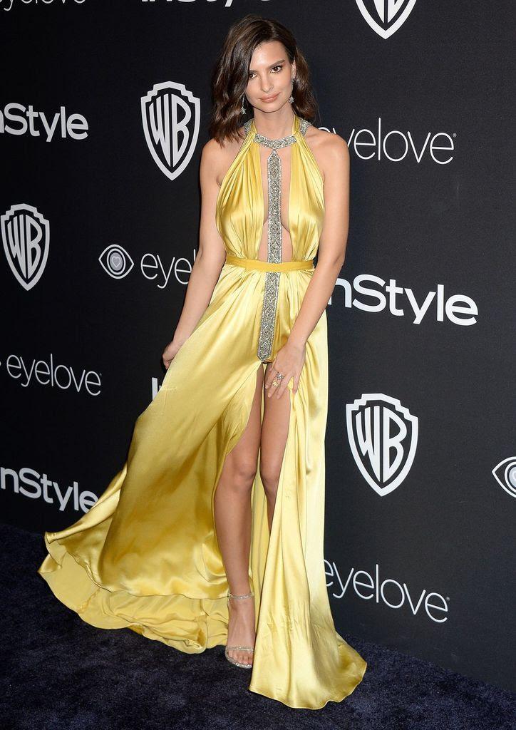 Emily Ratajkowski - 2017 Golden Globe Awards - Sexy Actress Pictures | Hot Actress Pictures