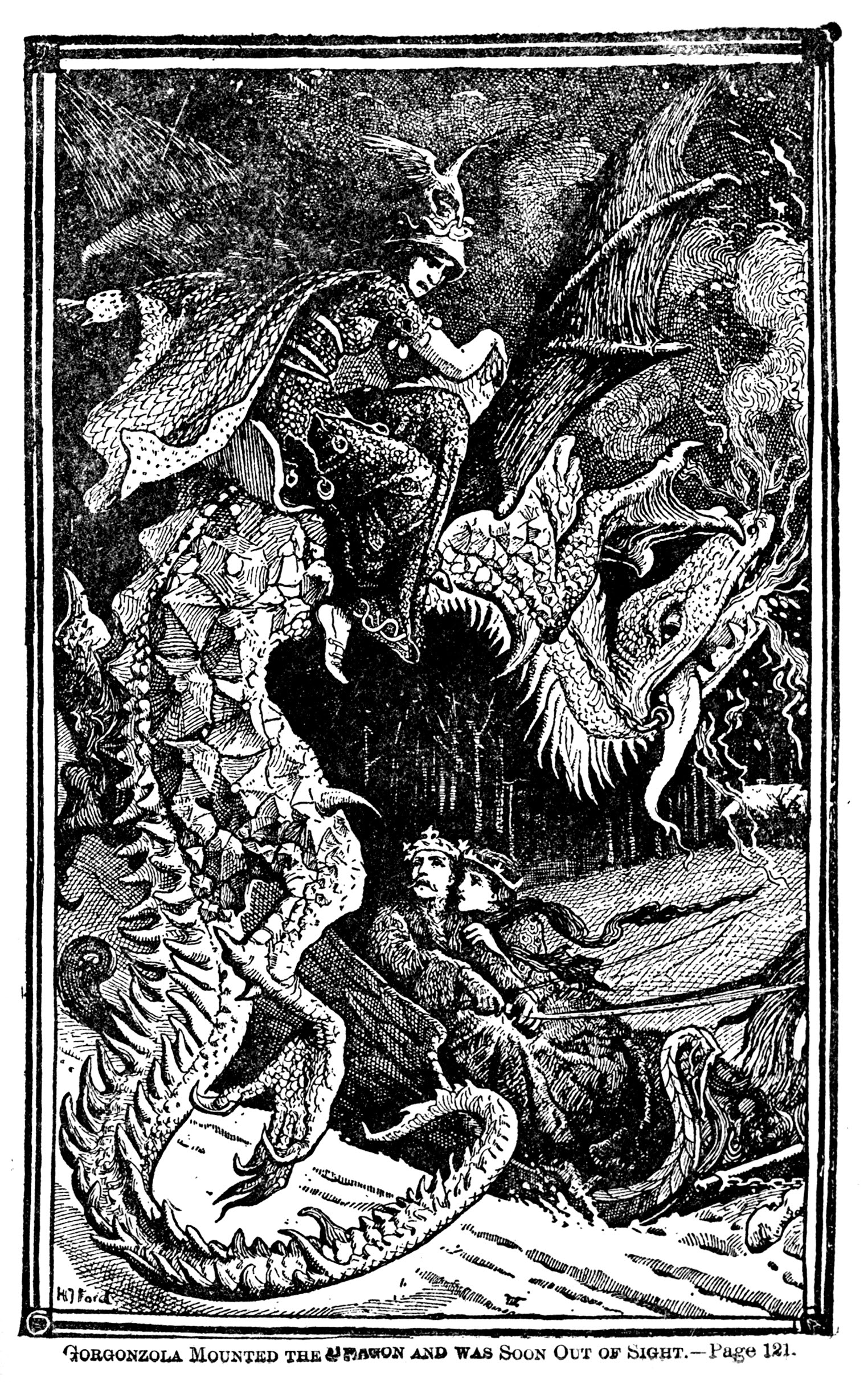 Henry Justice Ford - The green fairy book, edited by Andrew Lang, 1900 (illustration 3)