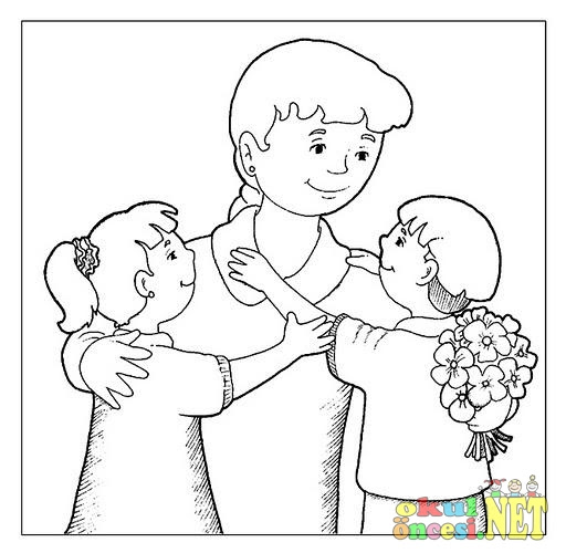 Komik Fipixde Konu Okul öncesi Anneler Günü Boyama Sayfaları