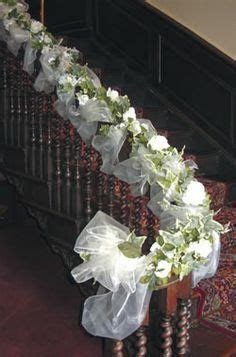 White tulle   Wedding staircase entry   Pinterest   White