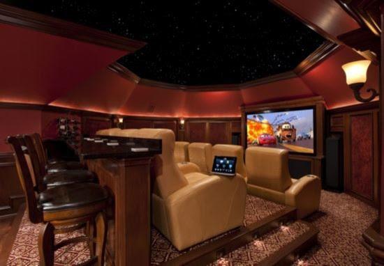 Attic conversion home theater - Contemporary - Home Theater ...