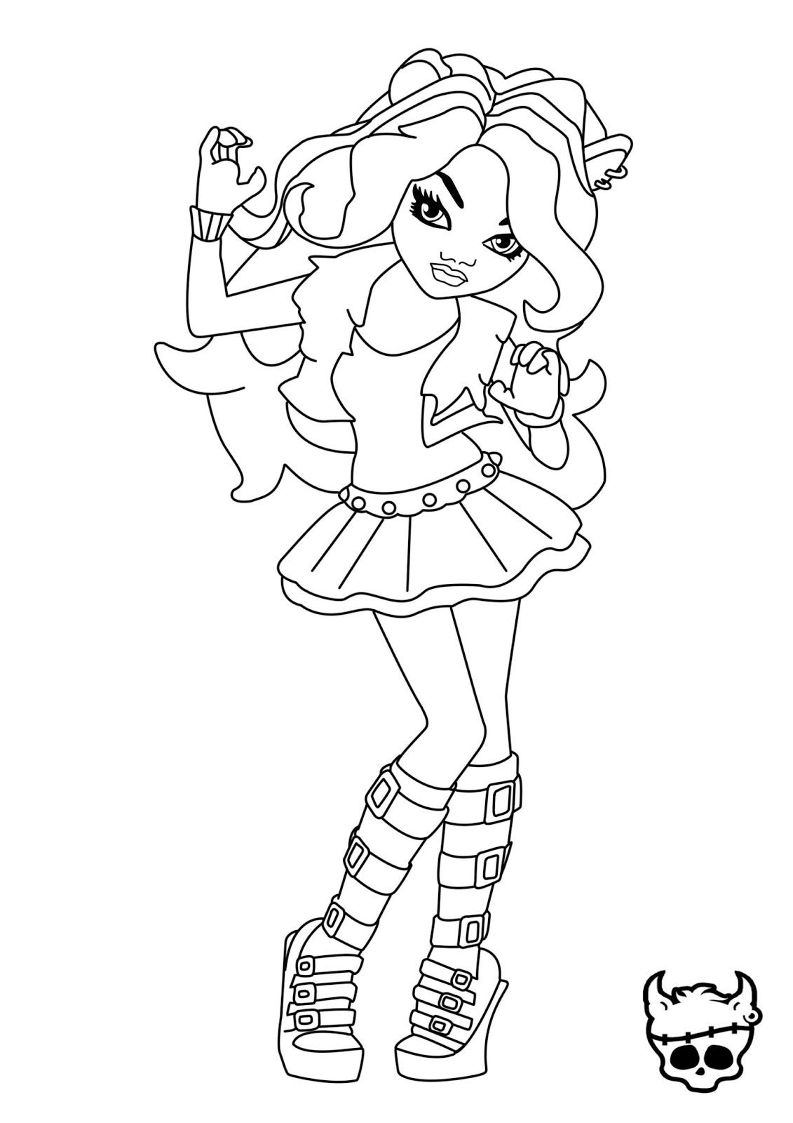 Clawdeen Wolf Coloring Pages at GetColorings.com | Free ...