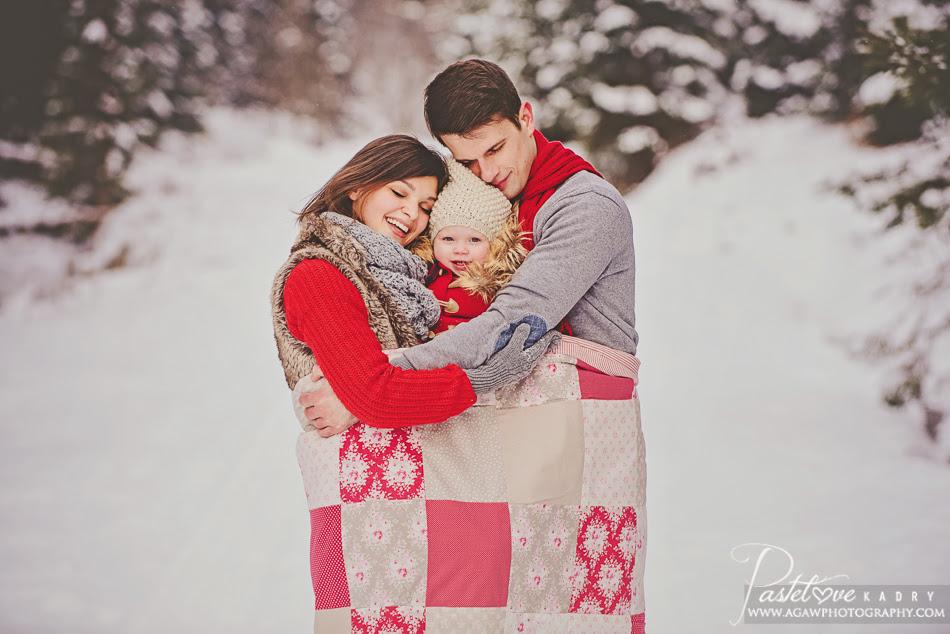 zimowa sesja dla rodzinki
