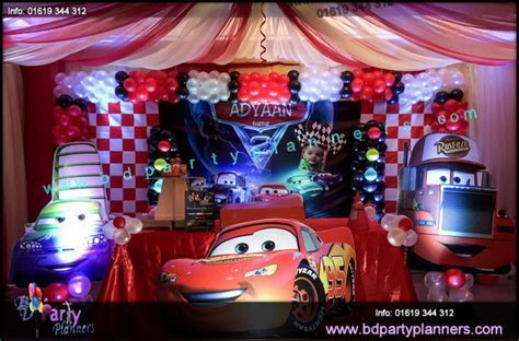 Cars Theme BIrthday Decoration   BD Event Management