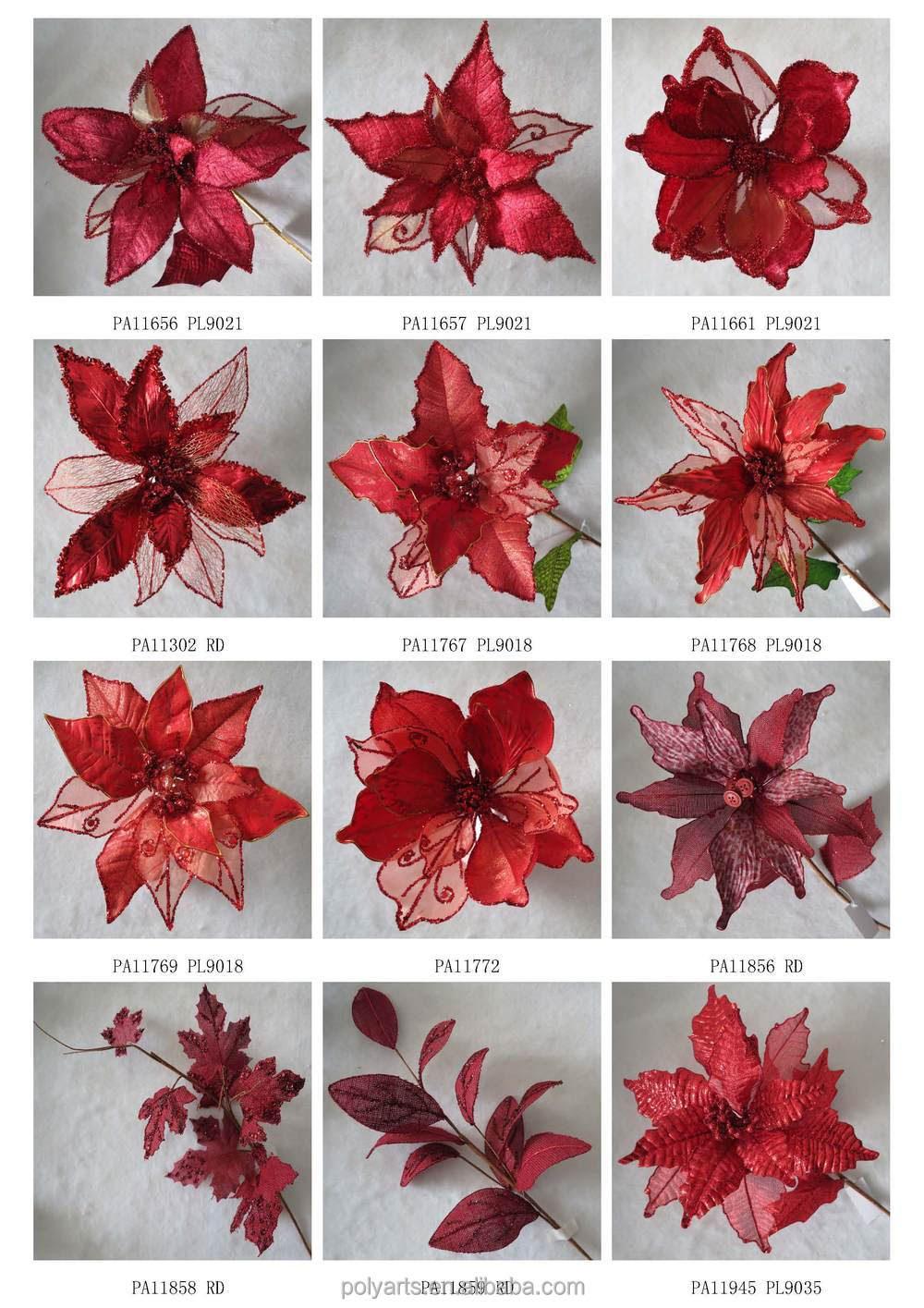 2015 Trendy Color 7'' Velvet Poinsettia Christmas ...