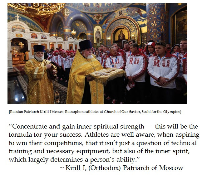 Kirill I Olympic blessing