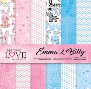 Zestaw papierów - Emma & Billy - 30,5 cm x 30,5 cm - Laserowe LOVE