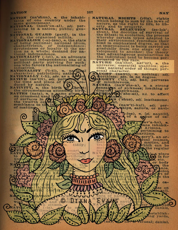 1940s Dictionary Page Nature2