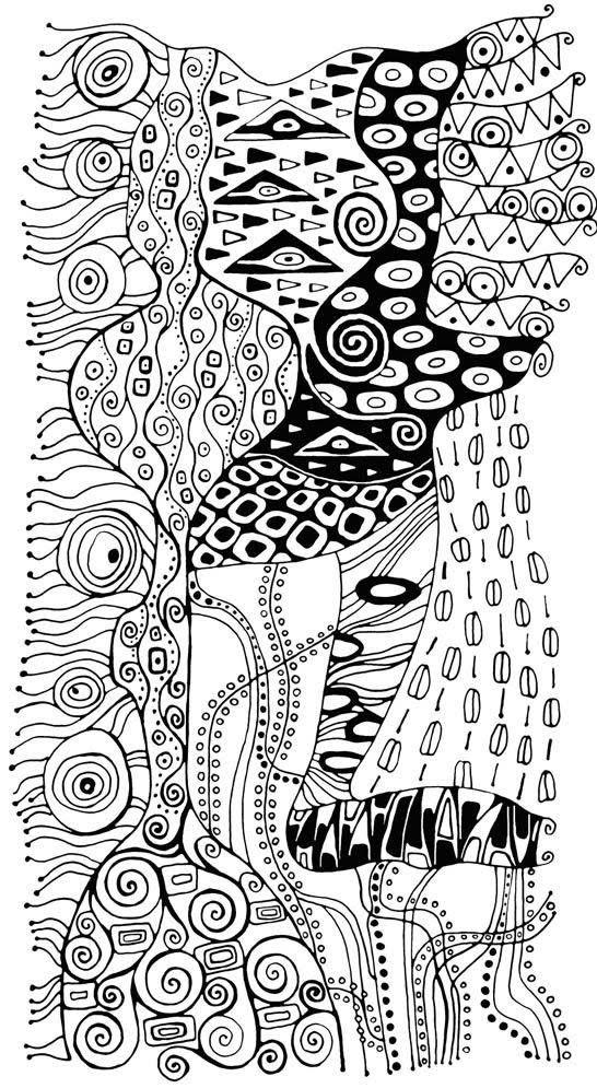 Disegno Da Colorar Antistress Gustav Klimt 4