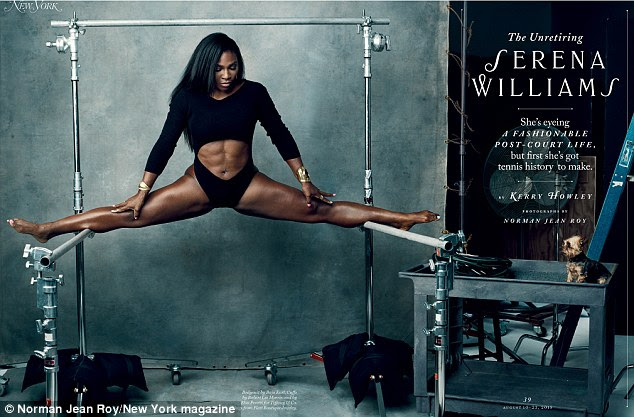 Work it! Serena Williams rocks designer duds while flaunting her jaw-dropping athleticism in the latest issue of New York Magazine