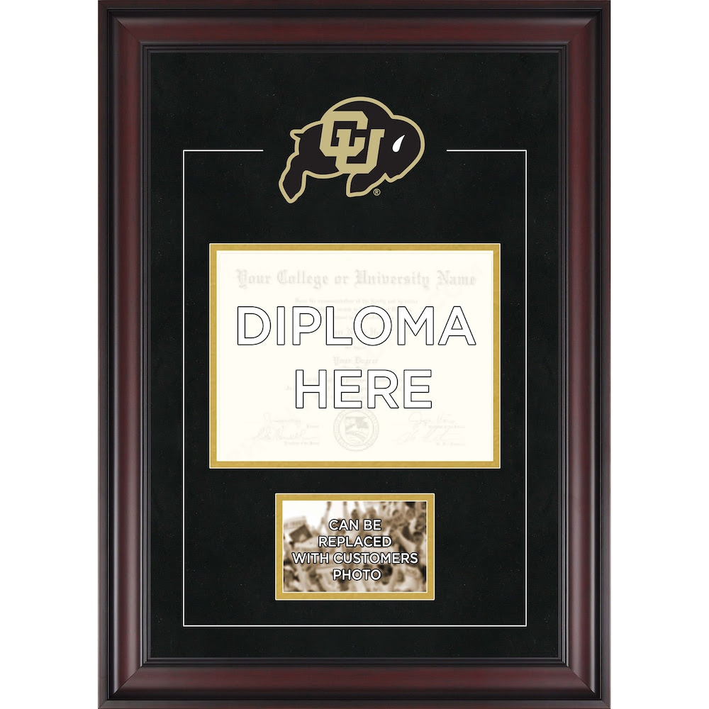 Colorado Buffaloes Deluxe 85 X 11 Diploma Frame With Team Logo