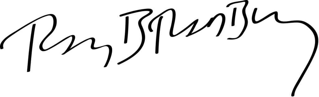 Ray Bradbury's signature