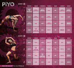 piyo workout calendar basic  strength schedule