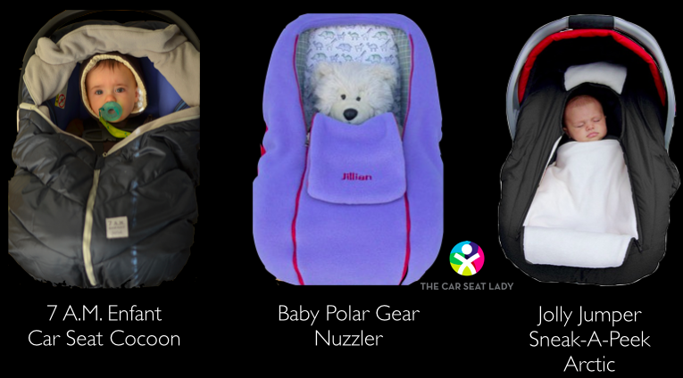 Image result for car seat with winter coat