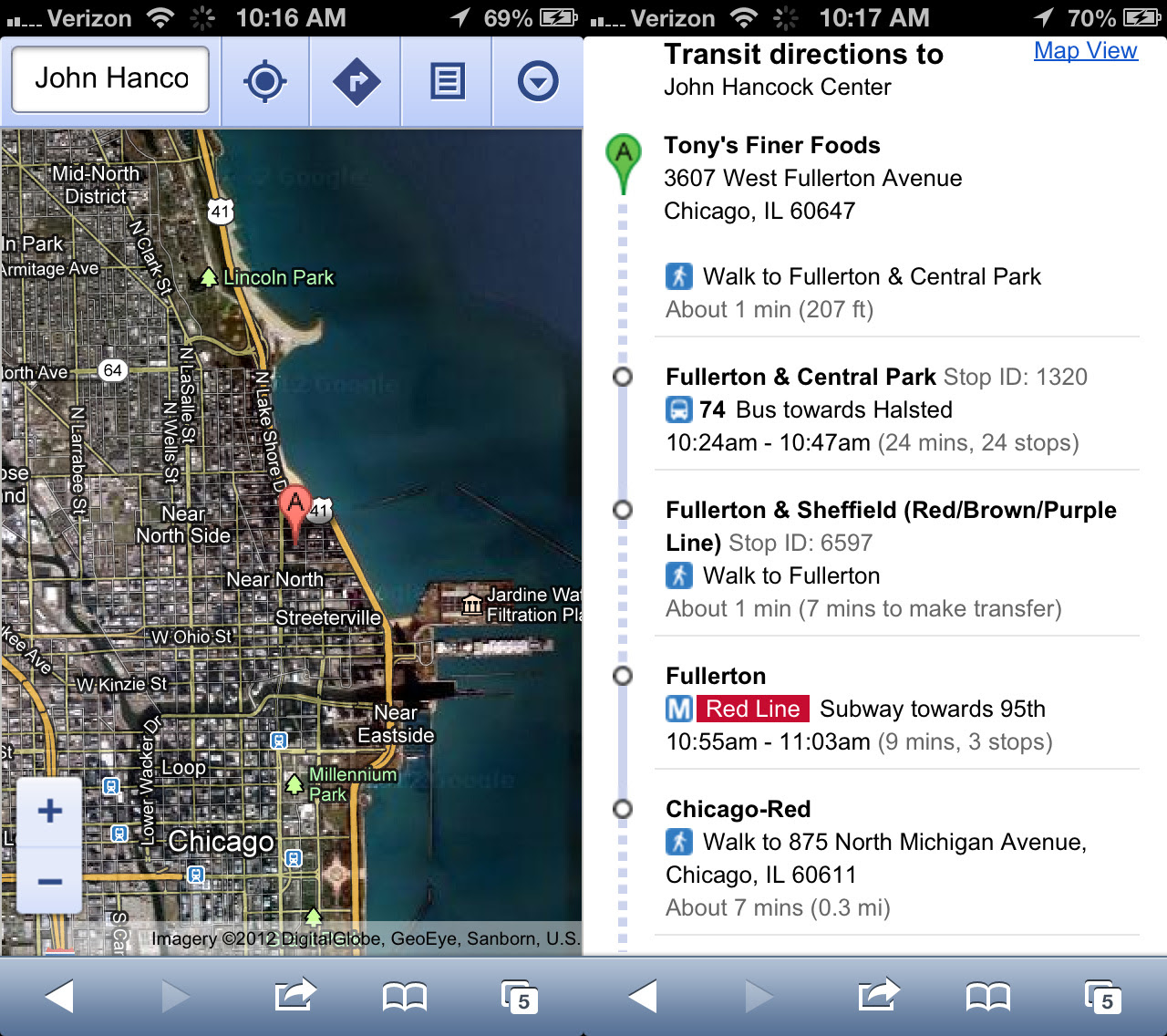 Replacing Ios 6 Maps Hands On With Mapquest Bing Waze