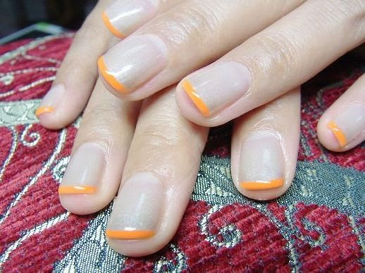 LE FASHION BLOG NAIL CANDY NUDE ORANGE TIP FRENCH MANICURE NAIL ART INSPIRATION 1 photo LEFASHIONBLOGNAILCANDYNUDEORANGETIPFRENCHMANICURE1.jpg