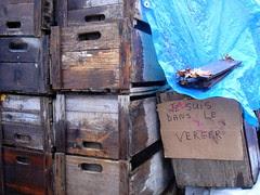 crates, sign, Mr. Safian's