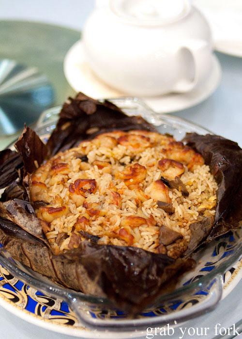 fried rice in lotus leaf kam fook bondi junction