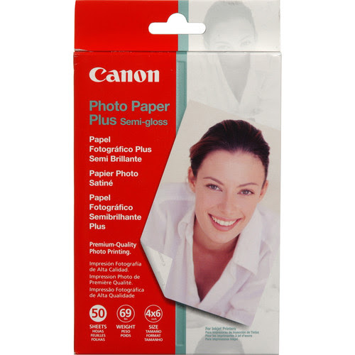 "Canon SG-201 Photo Paper Plus Semi-Gloss - 4x6"" - 50 Sheets"