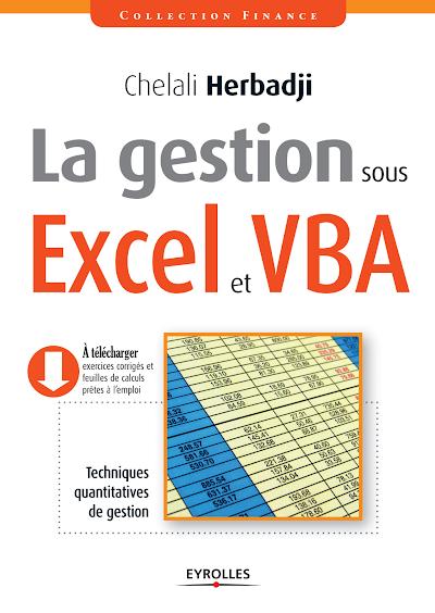 Télécharger le Livre : la gestion sous excel et vba.pdf