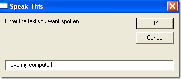 speak computer