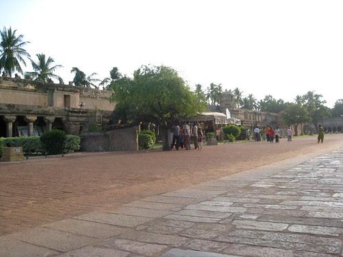Vast corridor of big temple
