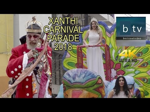 Xanthi Carnival 2018 parade in 4K