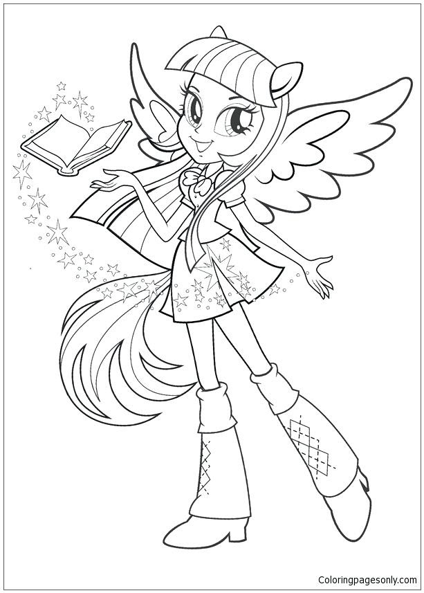 My Little Pony Equestria Girl Coloring Pages Games At Getdrawings