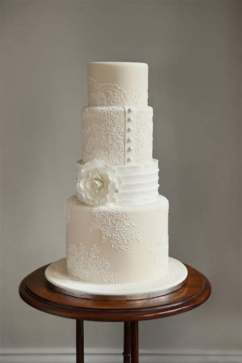 White Wedding Cakes That Are Anything But Plain