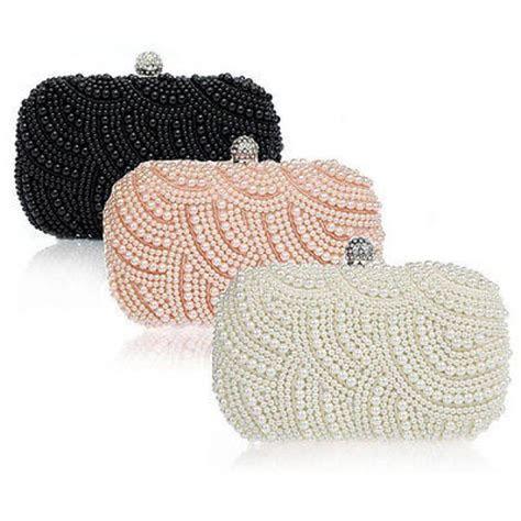 Handmade Beaded Pearl Evening Bag Clutch Crystal Purse