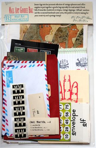 Mail art goodie bag