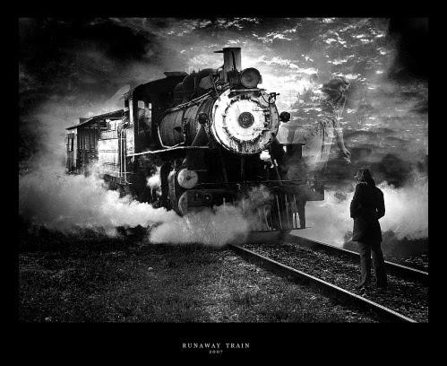 Runaway_Train_Black_and_White