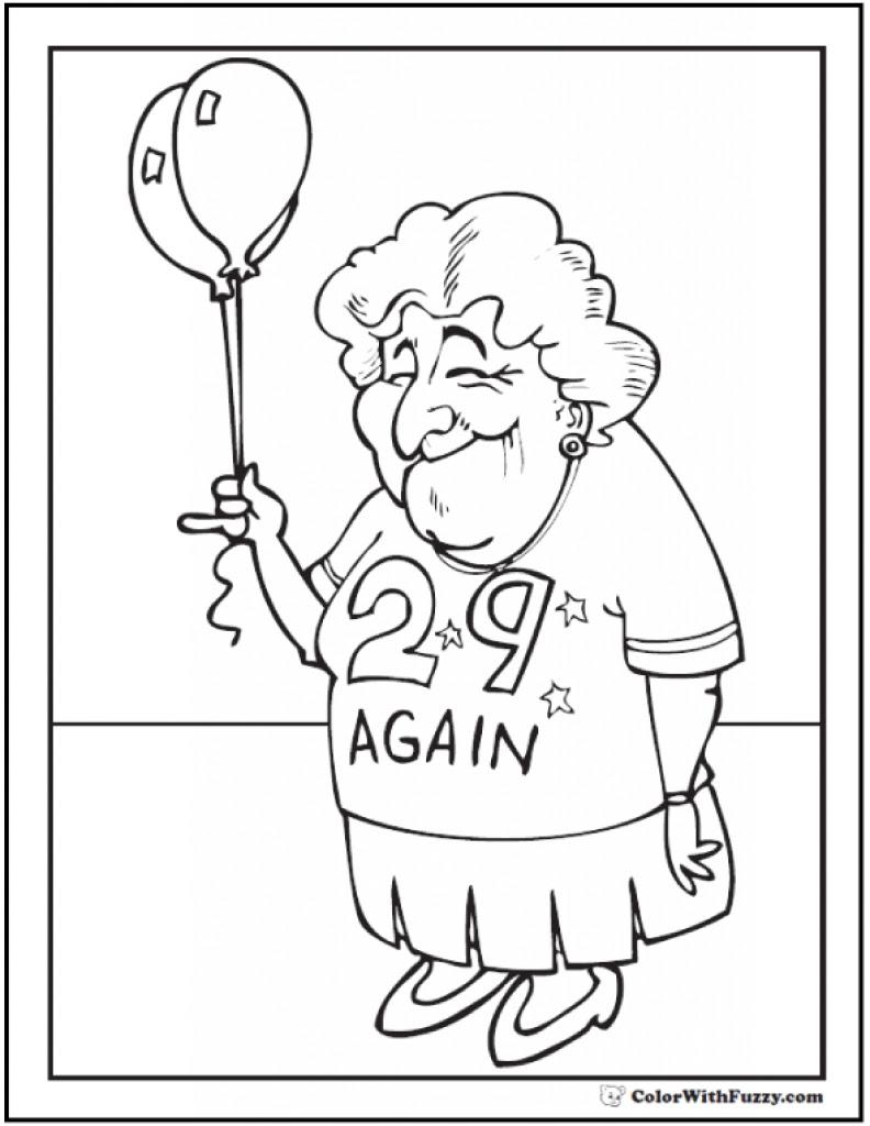Grandma Coloring Page at GetColorings.com | Free printable ...