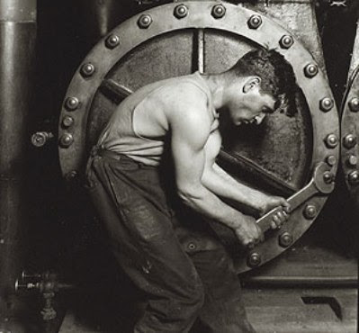 Lewis Hine's classic portrayal of the American worker.