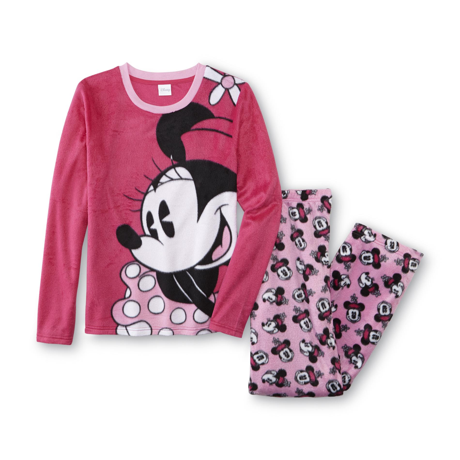 disney minnie mouse women's plus pajama top  pants